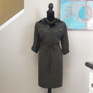 Mossimo/Military Green/Drawstring Waist/ Dress